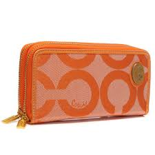 It Coach Legacy Stripe In Signature Large Black Wallets AHE Coach Big Logo  Large Orange Wallets AXY ...