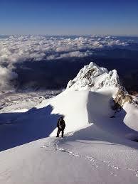 Climbing the Hogsback on Mt. Hood by Alex Lockard
