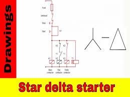 star delta starter control circuit diagram you wiring