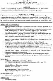 Dental Assistant Resume Skills Musiccityspiritsandcocktail Com