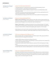 Ui Ux Designer Resume User Experience Design Resumes Enderrealtyparkco 5