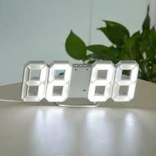 <b>3D digital electronic</b> clock <b>LED</b> screen temperature/date/time display ...