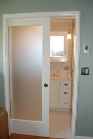frosted glass interior doors bathroom