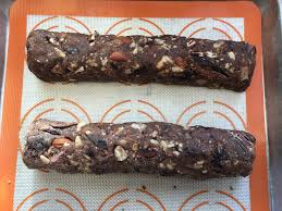 form the dough into logs then sprinkle with the topping mixture before baking