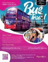 Bus Travel Free Psd Flyer Template Psdflyer Co