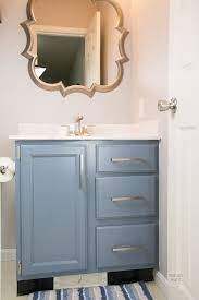 how to paint bathroom vanity cabinets