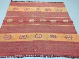 small vintage turkish kilim rug 2