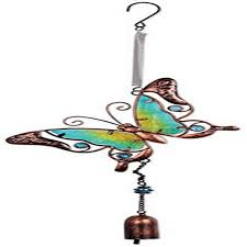 Sunset Vista Designs Sunset Vista Designs Metal And Glass Butterfly Bouncy Hanging Decoration