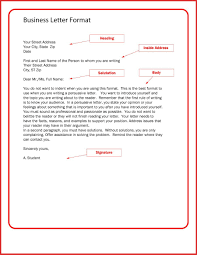 Business Formal Letter Format Gallery - Letter Format Examples