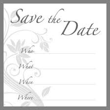 Blank Save The Date Cards Free Printable Wedding Invitation Templates Business Card