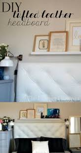 diy tufted leather headboard tutorial by the learner observer remodelaholic