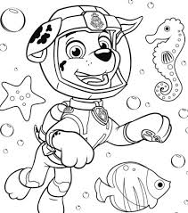 Paw Patrol Marshall Coloring Page Paw Patrol 49 Coloring Page Free