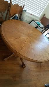 beautiful solid handcrafted wood table 6 seats oval round extends leaves 4 6 people great detail vintage antique classic for in redondo beach