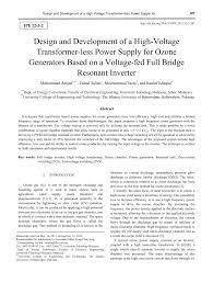 Dc Power Supply Design Pdf Pdf Design And Development Of A High Voltage Transformer