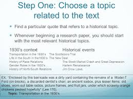 how to develop research questions ppt  step one choose a topic related to the text