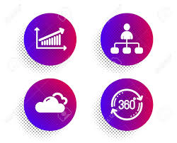 Full Sign Chart Management Cloudy Weather And Chart Icons Simple Set Halftone