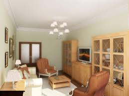 White Wall Paint With Chandelier Also Brown Upholstered Chairs Also White  Soft Carpet Also Wooden Laminating ...