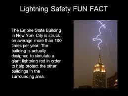 lightning safety fun fact