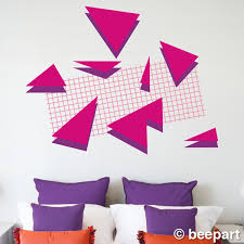 80s retro wall decal set memphis group style 80s art deco geometric vinyl decals 80s deco vintage eighties absract patterns on art deco style wall decals with 80s retro wall decal set memphis group style 80s art deco