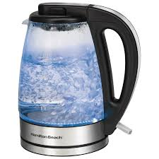 hamilton beach electric kettle 1 7l glass electric kettles best canada