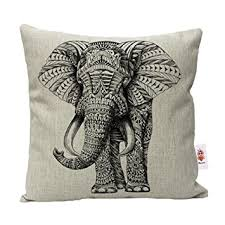 Small Picture Nunubee Animal Cotton Linen Cushions Cover Sofa Throw Pillow Case