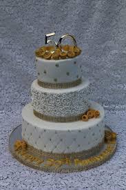 50th Anniversary Cupcake Decorations 50th Wedding Anniversary Cake Cakecentralcom