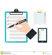Agenda List Agenda List Concept Vector Illustration Stock Vector