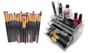 makeup brush set 20 piece and makeup display