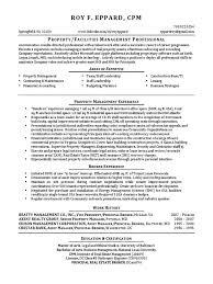 Vp Property Management Real Estate In Washington Dc Resume Roy
