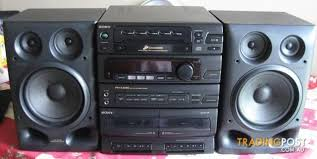 sound system with cd player. sony fh-cx45 mini stereo system.am /fm. cd player. dual sound system with player m