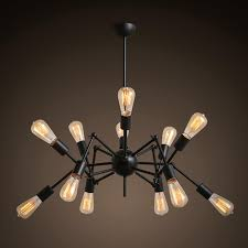 vintage lighting pendants. Ecolight Novelty Chandelier Light Vintage Black White Spider Shaped Pendant Lamp Metal Loft Dining Home Chandeliers Lighting-in From Lights Lighting Pendants 1