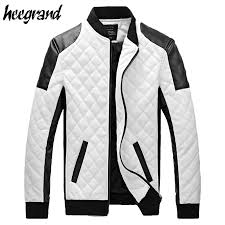 whole 2018 new design men s jacket winter autumn pu leather black white fashion slim plaid jacket for man drop mwj883 direct from china