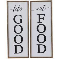 More buying choices $9.99 (3 new offers) Let S Eat Good Food Wood Wall Decor Set Hobby Lobby 5468053