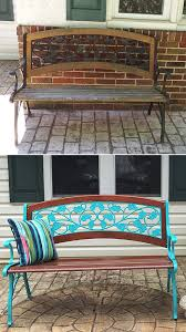 painted benches garden bench
