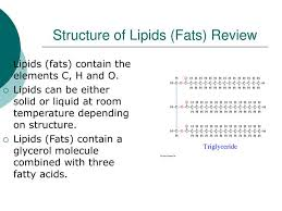 ppt structure of lipids fats review