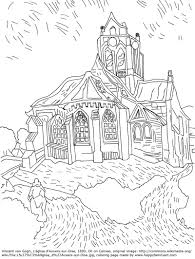 Vangoghchurchmedium Adult Coloring Coloring Books And Craft