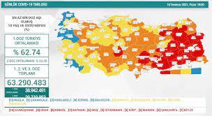 18 Temmuz Türkiye'de koronavirüs tablosu ve aşı haritası