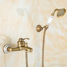 brass bathroom shower sets with faucet lift water saving shower head european antique style blue and white porcelain lift water saving shower head bathroom