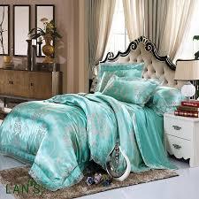 teal bedding sets queen silk