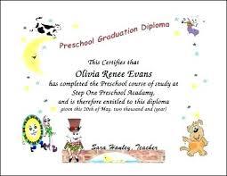Preschool Diploma Graduation Certificate Template Formats Included