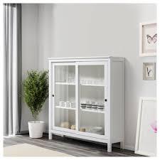 white hutch with glass doors elegant hemnes glass door cabinet white stain 120 130 cm