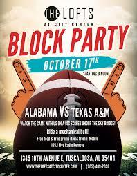 Block Party Flyer Football Block Party Flyer On Behance