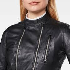 features make this leather biker