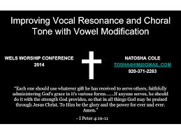 Vowel Modification And Resonance Manualzz Com