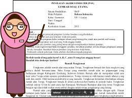 Berilah tanda silang (x) didepan huruf a,b, c atau d didepan jawaban yang benar ! Soal Uas Bahasa Indonesia Kelas 7 Semester 1 Dan Kunci Jawaban Teori Dan Soal