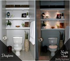building your own floating shelves for the bathroom