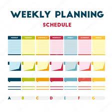 Weekly Planning Weekly Planning Schedule Stock Vector Helen Tosh 119221604