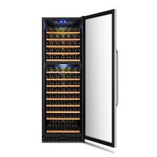 cloudyby lanbo 160 bottles red white wine cooler chiller counter top wine cellar cabinet with digital