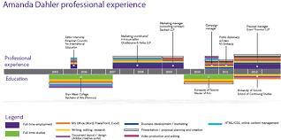 Infographic Resume Experience Timeline On Wacom Gallery
