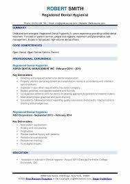 Registered Dental Hygienist Resume Samples Qwikresume